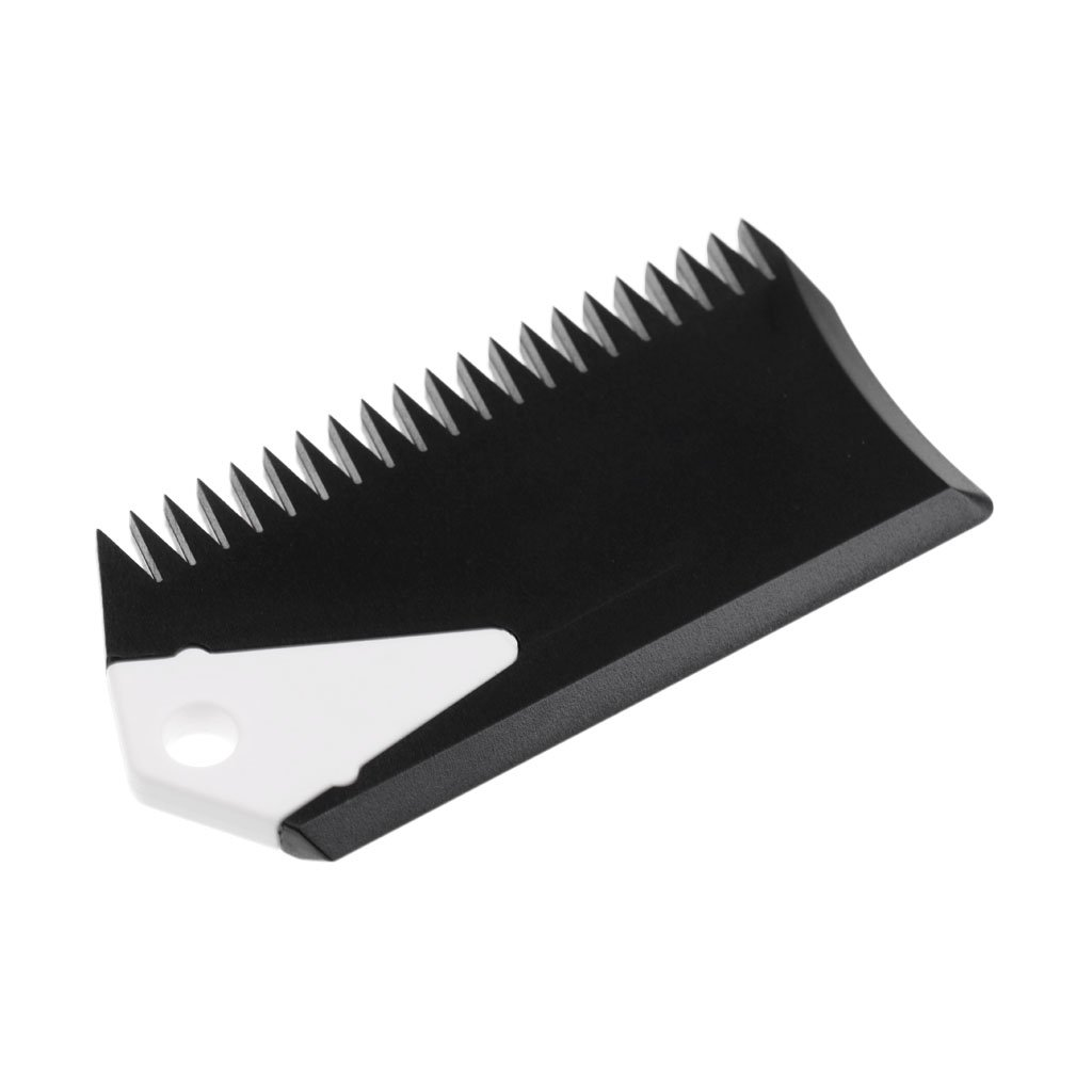 MonkeyJack Surfboard Wax Comb with Fin Key - SUP Surf Board Wax Comb Cleaning Remover Skimboard Surfing Accessory Black