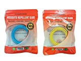 Mosquito Repellent Bracelet 10 Pack - Bug Protection for up to 250HRS Each, Deet-Free - Resealable Bags For Longer Use