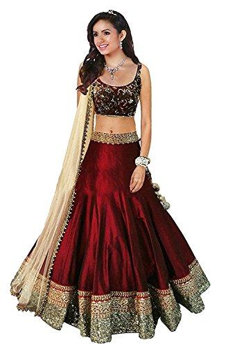 Rekha Ethnic Shop Maroon Color Designer Lehenga Choli Women's Western Wear Bollywood Party Wear Choli by REKHA