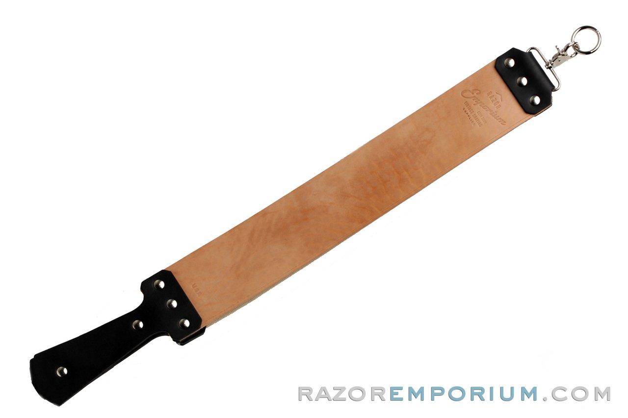 Razor Emporium 3'' Russet Horsehide & Canvas Strop