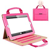 9.7 inch iPad 4 Case,Hulorry Portable Business Handbag Slim Fit Case Wallet File Folio Pocket Rugged Protective Synthetic Leather Case for iPad 2/iPad 3/iPad 4 9.7 inch Tablet