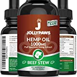 Hemp Oil for Dogs and Cats - 1000 MG - Pain Relief for Pets, Stress & Anxiety Relief - Beef Stew Flavor - Made in USA