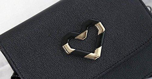 FZHLY Mode Persönlichkeit Kleine Quadratische Tasche Frühlings-neue Heart-shaped Tasche Dekorative Schulter,LightBrown