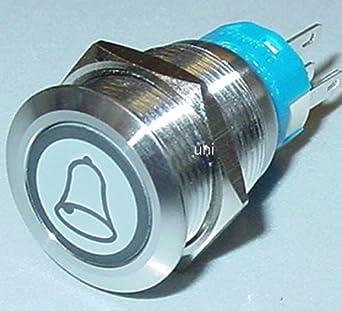 5A 250V Edelstahl Klingeltaster Drucktaster