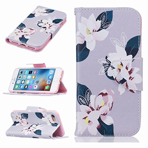 Custodia Apple iPhone 7 Plus Cover Case, Ougger Portafoglio PU Pelle Magnetico Stand Morbido Silicone Flip Bumper Protettivo Gomma Shell Borsa Custodie con Slot per Schede, Design 5