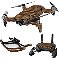 MightySkins Skin for DJI Mavic Air Drone - Dark Zebra Wood | Max Combo Protective, Durable, and Unique Vinyl Decal wrap cover | Easy To Apply, Remove, and Change Styles | Made in the USA