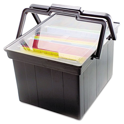 Advantus Companion Portable File - Advantus TLF2B Companion Portable File, Legal/Letter, Plastic, 17 x 14 x 11, Black (1 Each)