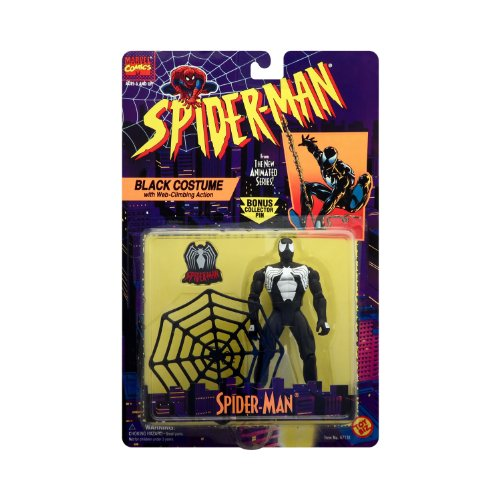 Spiderman Collector Costumes (Spider-Man Black Costume with Bonus Collector Pin - Spider-Man The Animated Series Action Figure)
