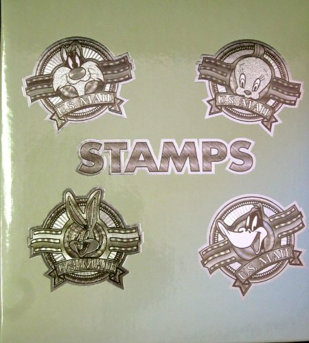 Vintage United States Postal Service Collectible Stamp Collection Album with Looney Tunes Characters on Cover -