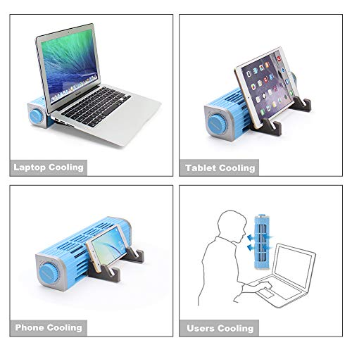 OImaster Laptop Cooling Pad with Adjustable Stand Laptop Cooler 3Speed Adjustable USB Multi Function