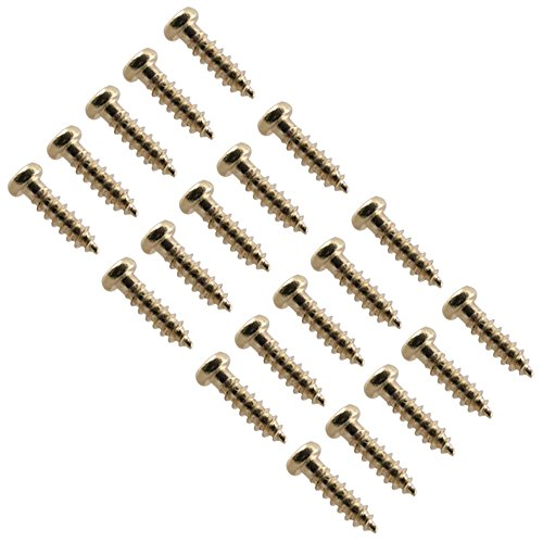 Gibson Pickguard Screws (Seismic Audio - SAGA01-20Pack - Gold Replacement Screws for Fender, Gibson, Ibanez Guitar Tuners and Luthier Projects - 20 Pack)