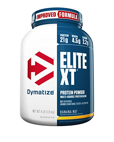 Dymatize Elite XT Protein Powder Blend, Banana Nut, 4 lbs (Elite Banana)