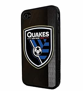diy zhengSoccer MLS SAN JOSE EARTHQUAKES SOCCER CLUB FOOTBALL FC Logo, Cool iphone 5c/ Smartphone iphone Case Cover Collector iphone TPU Rubber Case Black