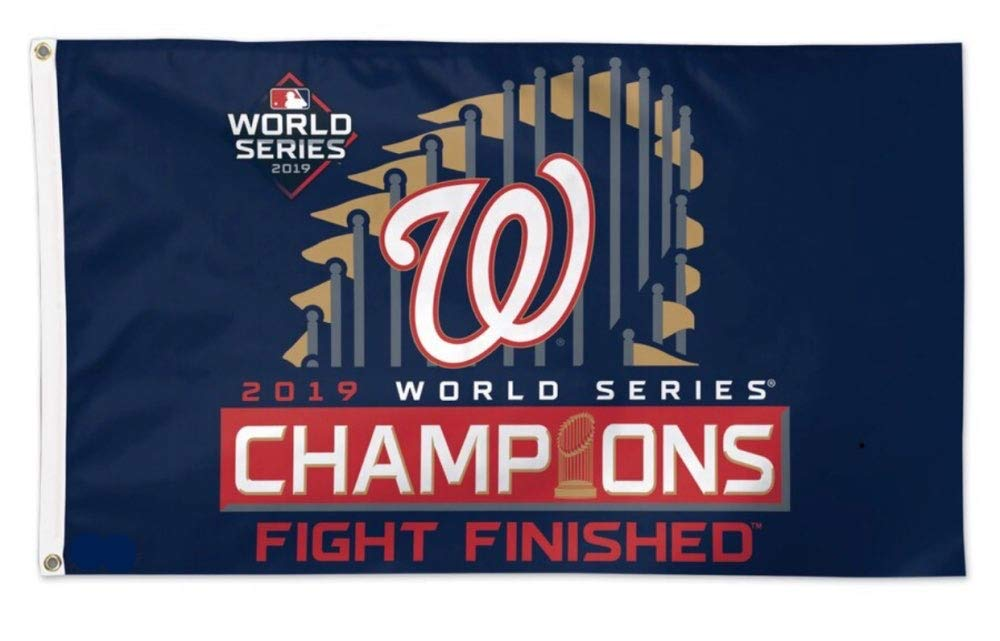 Washington Nationals 2019 World Series Champions Double Sided Flags Blue
