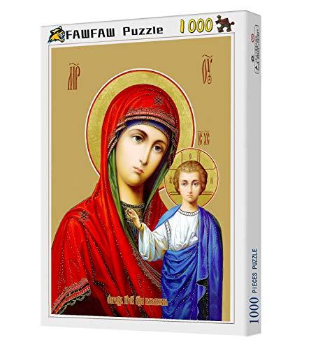 FAWFAW-1000-Piece-Wooden-Jigsaw-Puzzles-Virgen-Maria-Y-Angel-Classic-Rompecabezas-De-Juguete
