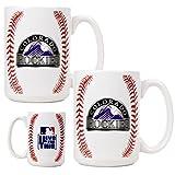MLB Colorado Rockies Two Piece Ceramic Gameball Mug Set - Primary Logo