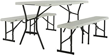 Lifetime 5ft Fold-In-Half Table and Bench Combo