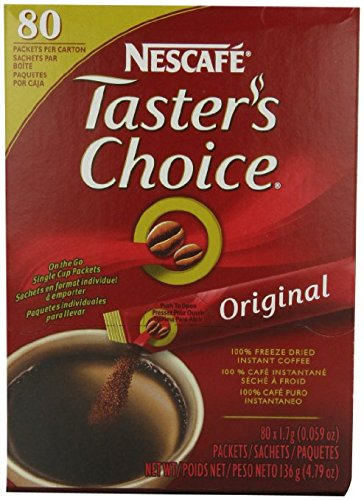 Nescafe Coffee, Taster's Choice Stick Packs, Original , 80 Count 4.79 Ounce