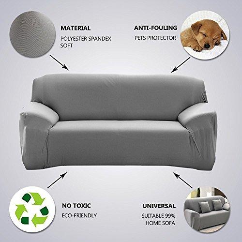 Fundas de sofá elásticas (funda protectora, para sofras de 1, 2, 3 y 4 plazas), azul, 3 Seaters