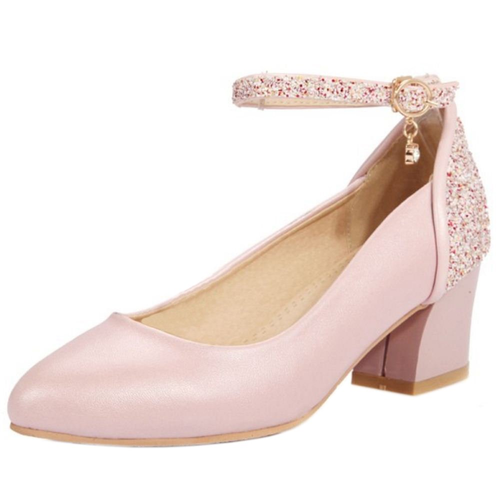 Zanpa Damen Pumps Ladies Glitter35 EU|Pink