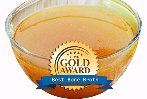 Healthy Bone Broth – Organic, Grassfed (Delicious Beef/Chicken/Turkey Blend) Frozen 32oz Bags, 8 Count (30 day supply/1 cup per day) Soup Broth Not Powder,, Slow Simmered, Pasture Raised, Non-GMO