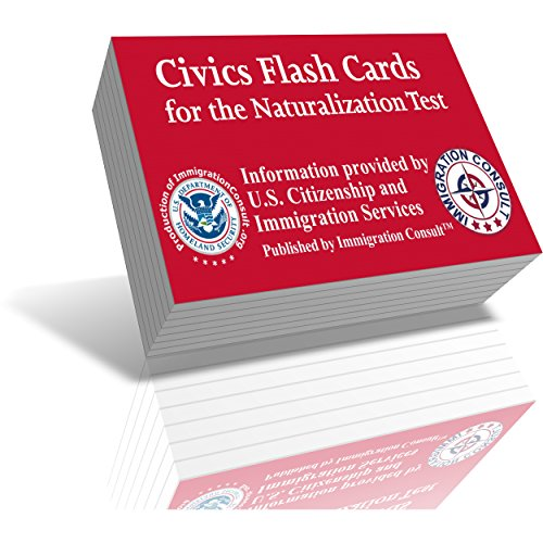 US Citizenship test preparation civics flash cards to help study for the naturalization and civics test with all official 100 USCIS questions and answers - illustrated