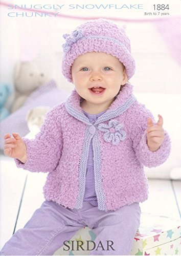 92fd55aec Sirdar Snuggly Snowflake Chunky Baby Knitting Pattern 1884  Amazon ...