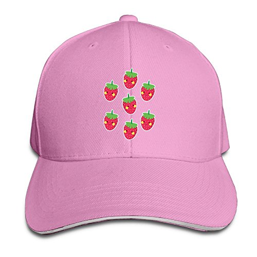 Strawberry Casual Unisex Unstructured Cotton Cap Adjustable Baseball Hat Cap - Shopping St Canal