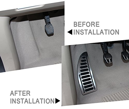 Stainless With Non-Slip Rubber Footrest Pedal Cover Foot Rest Pad With Adhesive Direct Replacement Fit For Ford Focus MK2 MK3 Kuga Escap