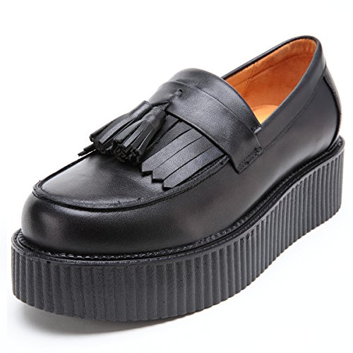 Punk Oxford Cuir Mocassins RoseG Hommes Creepers Flats En Glands Mocassins qx0wB4Z