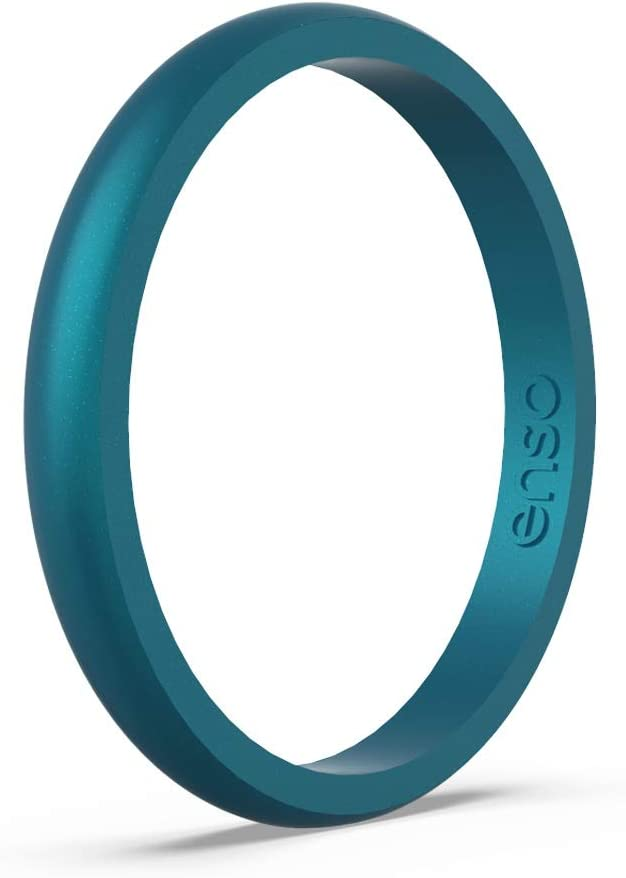 Enso Rings Halo Birthstone Silicone Ring | Made in The USA | Lifetime Quality Guarantee | Comfortable, Breathable, and Safe