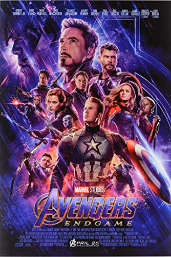 Avengers Endgame Movie Poster, US Regular Version, Size 24x36