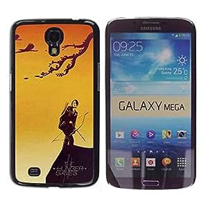 Samsung Galaxy Mega 6.3 / i9200 / SGH-i527 , Radio-Star - Cáscara Funda Case Caso De Plástico (Catniss & Bow - Hunger)