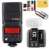 GODOX TT350F 2.4G HSS 1/8000s TTL GN36 Camera Flash Speedlite for Fuji Digital Camera,GODOX X1T-F TTL 1/8000s HSS 32 Channels 2.4G Flash Trigger Transmitter for Fuji DSLR Cameras