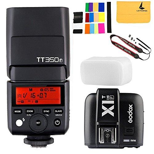GODOX TT350F 2.4G HSS 1/8000s TTL GN36 Camera Flash Speedlite for Fuji Digital Camera,GODOX X1T-F TTL 1/8000s HSS 32 Channels 2.4G Flash Trigger Transmitter for Fuji DSLR -