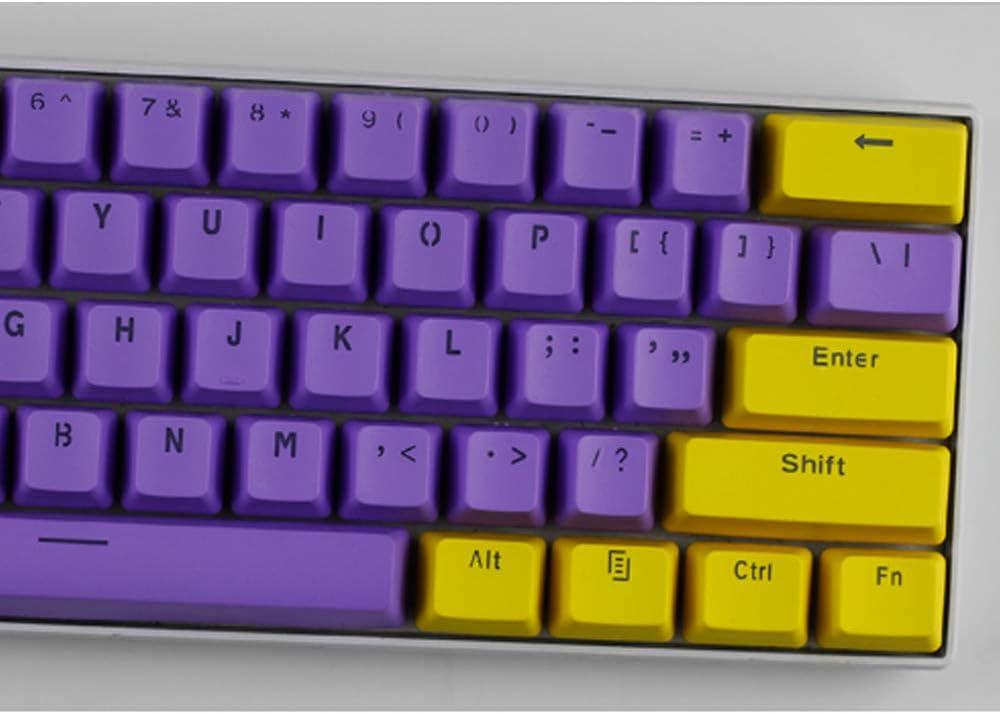 Six6 61 ANSI OEM Nombres de Teclas 60% Teclado mecánico PBT de luz de Fondo de Dos Colores mecánica Teclado Conjunto de Claves para GH60 / RK61 / ...