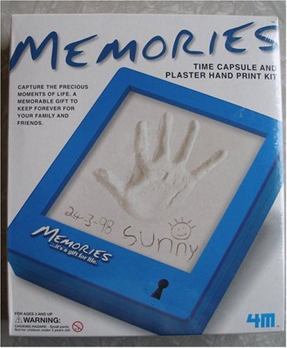 Baby Time Capsule (Memories Time Capsule and Plaster Hand Print Kit)