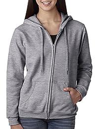 18600FL Heavy Blend Missy Fit Ladies' Full Zip Hooded Sweatshirt