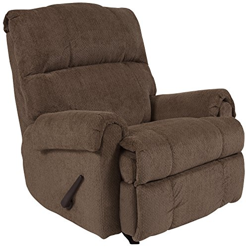- Flash Furniture Contemporary Kelly Bark Super Soft Microfiber Rocker Recliner