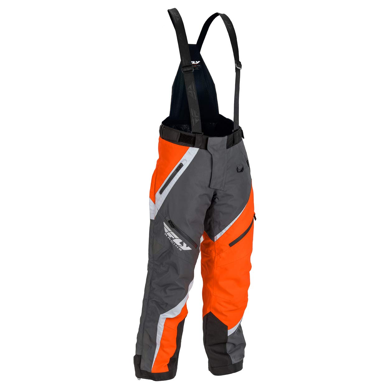 Large Gray//Orange Fly Racing F19 SNX Pro Insulated Tall Mens Snowmobile Pants