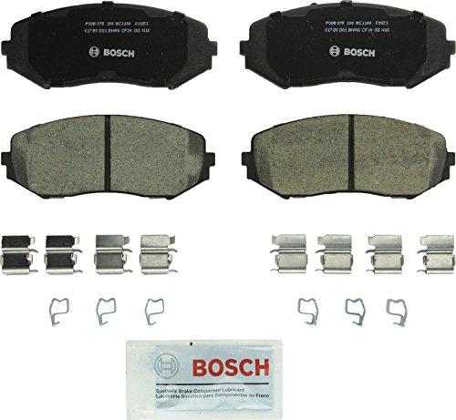 Bosch BC1188 QuietCast Premium Ceramic Disc Brake Pad Set For 2006-2013 Suzuki Grand Vitara; Front