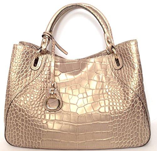 Biasia , Sac pour femme à porter à l'épaule or taupe