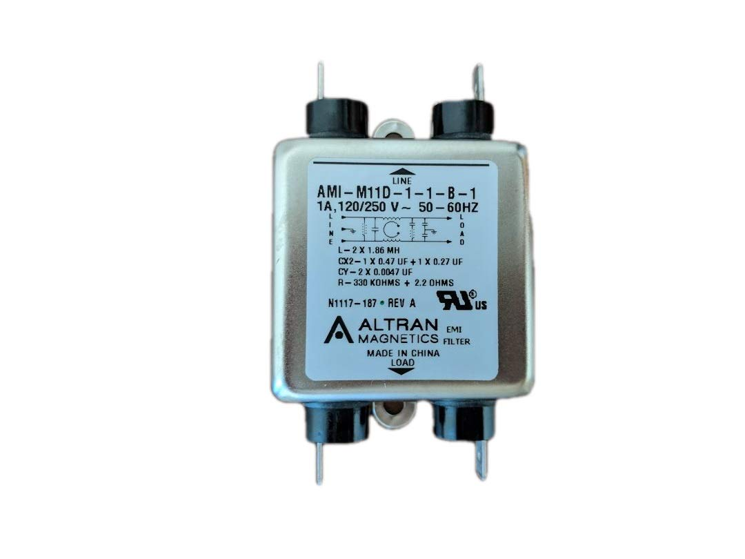 M11D Series 1 Amp Power Line EMI Filter with Quick Connects