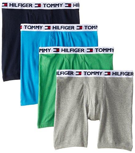 Tommy Hilfiger Men's 4-Pack Cotton Boxer Brief, Royal Blue, Large