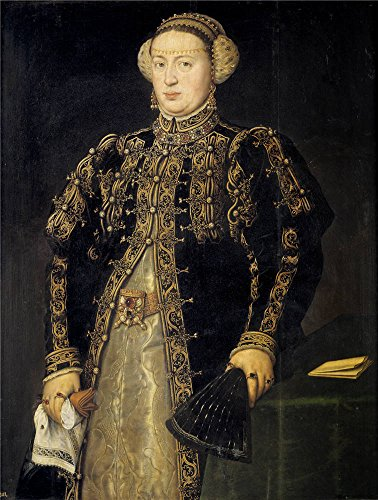 [Oil Painting 'Mor Anthonius Catalina De Austria Wife Of Juan III Of Portugal 1552' 16 x 21 inch / 41 x 54 cm , on High Definition HD canvas prints, gifts for Kids Room, Living Room And Nursery] (Dog Costume Carrying Gift Video)