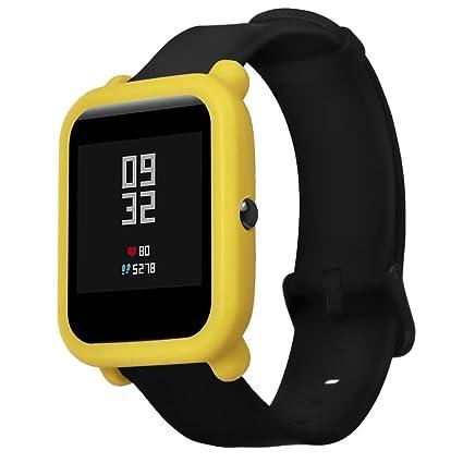 Logobeing Funda Completa para Huami Amazfit Bip Youth Watch Protección Suave de TPU de Silicona Smartwatch Protector (J)