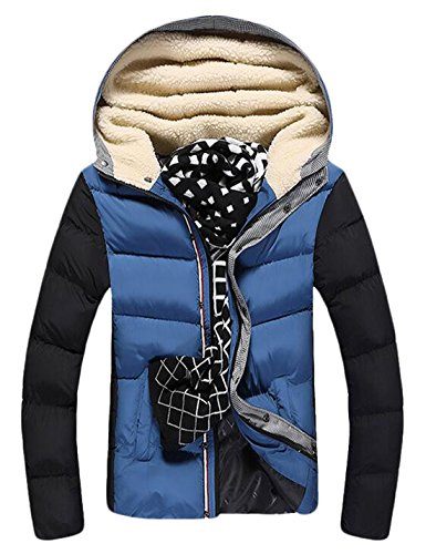 Coat Winter XXXL US Down Jackets Blue Warm Mens EKU Fur Hood Thicken Athletic nwZzwqARp