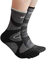 HASLRA Hiking Five Fingers Toe Socks 2 Pairs