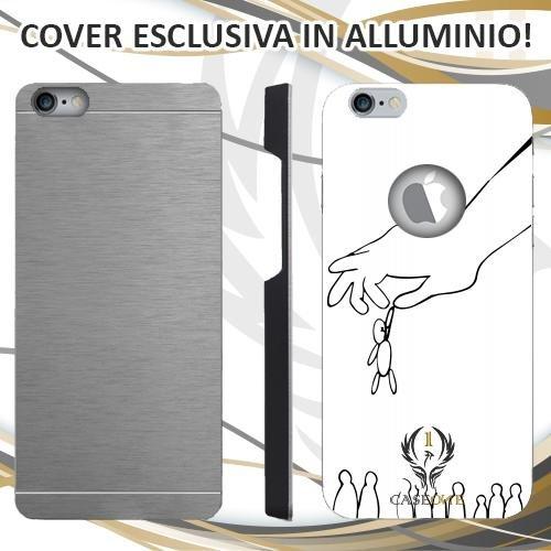 CUSTODIA COVER CASE CASEONE UOMO BIRILLO BIANCA PER IPHONE 6 6S IN ALLUMINIO