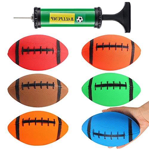 Shindel 6PCS Mini Inflatable Football, 7.5inch Ball Toys for Kids Perfect Outdoor and Indoor Games Football Lovers Gifts